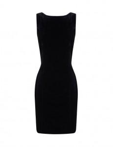 Vestido negro escote espalda de BLANCO