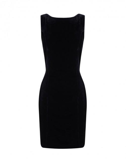 Vestido negro corto escote espalda